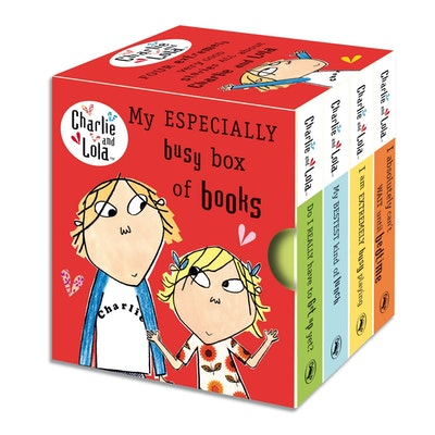 Book Cover:  Charlie and Lola: My Especially Busy Box of Books: Little Library