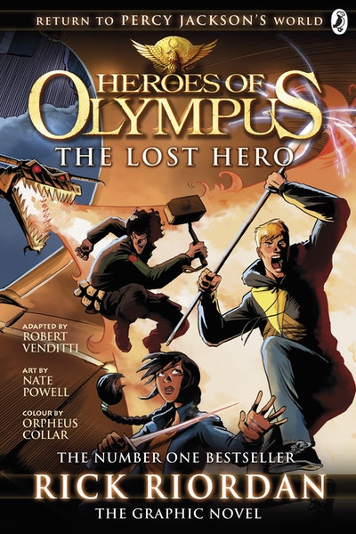 Book Cover: The Lost Hero: Heroes of Olympus: The Graphic Novel