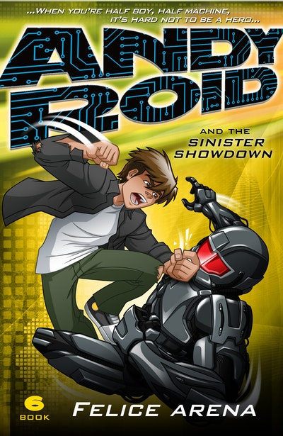 Book Cover:  Andy Roid and the Sinister Showdown