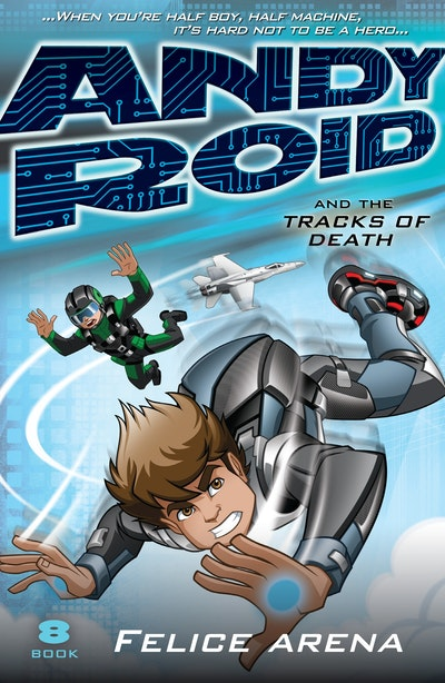 Book Cover:  Andy Roid and the Tracks of Death
