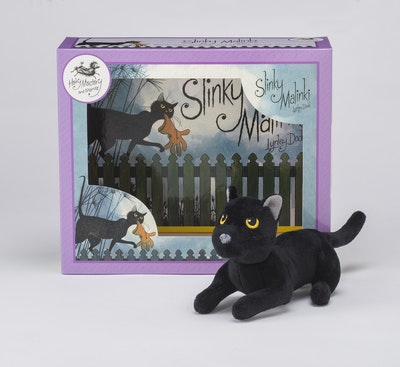 Book Cover:  Slinky Malinki Book & Toy Set