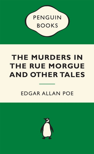 Book Cover: The Murders in the Rue Morgue: Green Popular Penguins