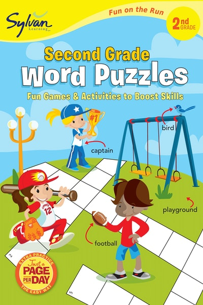 Second Grade Word Puzzles (Sylvan Fun On The Run Series)