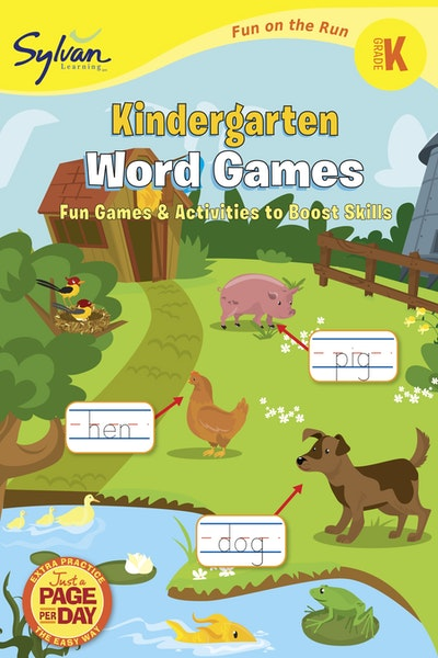 Kindergarten Word Games (Sylvan Fun On The Run Series)