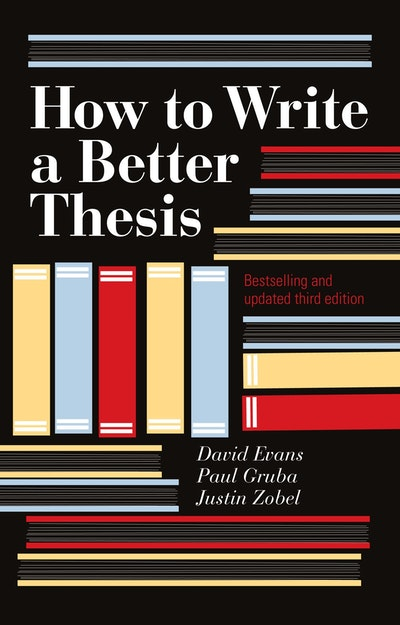 how to write a better thesis ebook How to write a good (no, great) phd dissertation priya narasimhan assistant professor ^oversell your thesis or its claims – be honest and you will be respected.