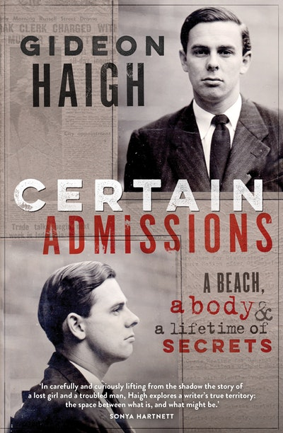 Book Cover:  Certain Admissions: A Beach, a Body and a Lifetime of Secrets