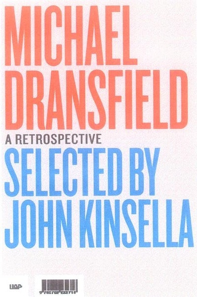 Book Cover:  Michael Dransfield: a Retrospective