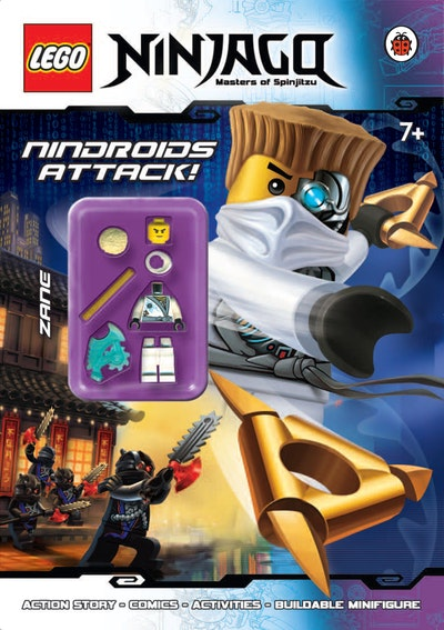 Book Cover:  LEGO® Ninjago: Nindroids Attack! Activity Book with Minifigure
