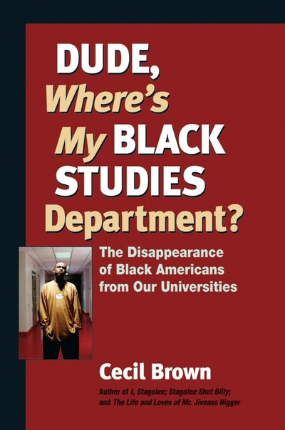 Dude Wheres Black Studies Dpt