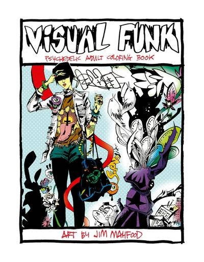 Visual Funk Street Art Adult Coloring Book
