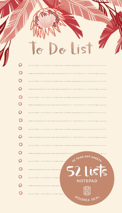52 Lists To Do Notepad