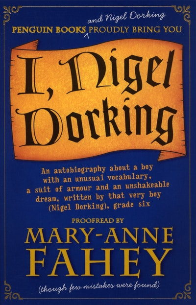 Book Cover:  I, Nigel Dorking