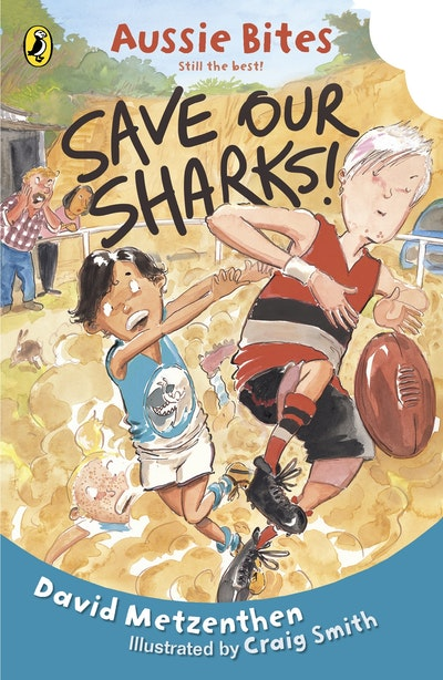 Book Cover:  Save our Sharks: Aussie Bites