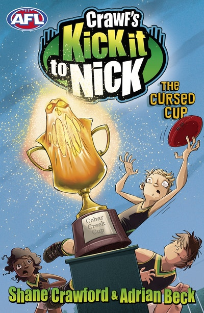 Book Cover:  Crawf's Kick it to Nick: The Cursed Cup
