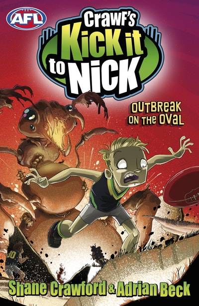 Book Cover:  Crawf's Kick it to Nick: Outbreak on the Oval