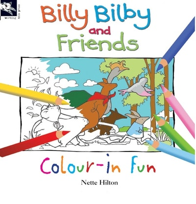 Book Cover:  Billy Bilby and Friends Colour-In Fun