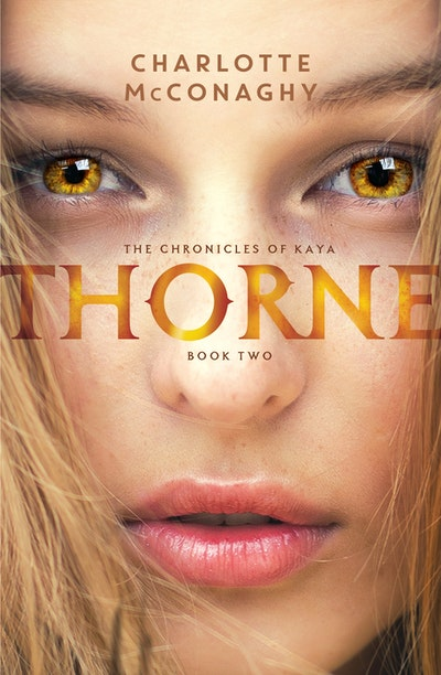 Thorn — a girl's face, presumably Finn's because it has golden hair and skin