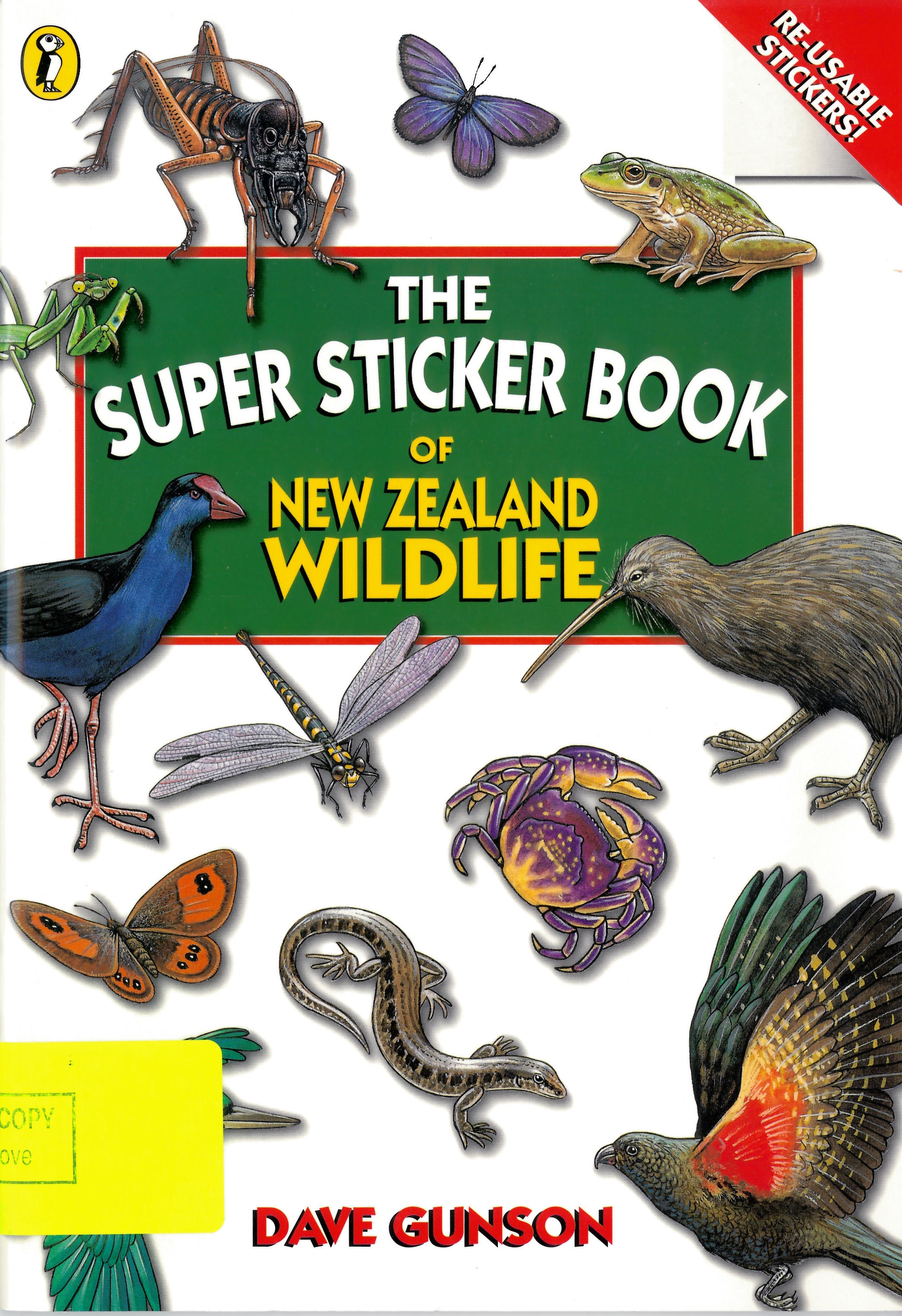 Book Cover: The Super Sticker Book of New Zealand Wildlife