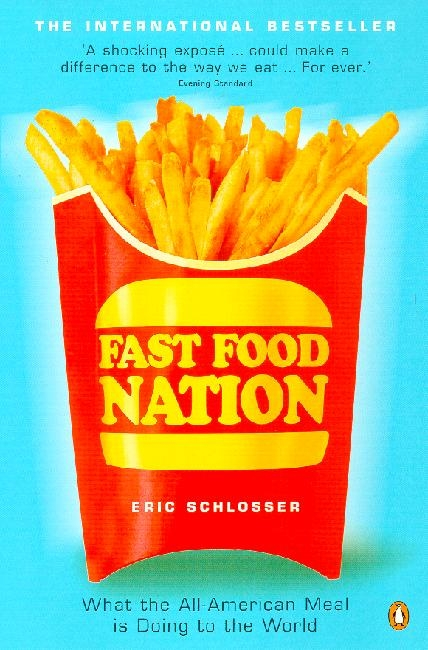 Food Book Cover Quote ~ Fast food nation the dark side of all american meal