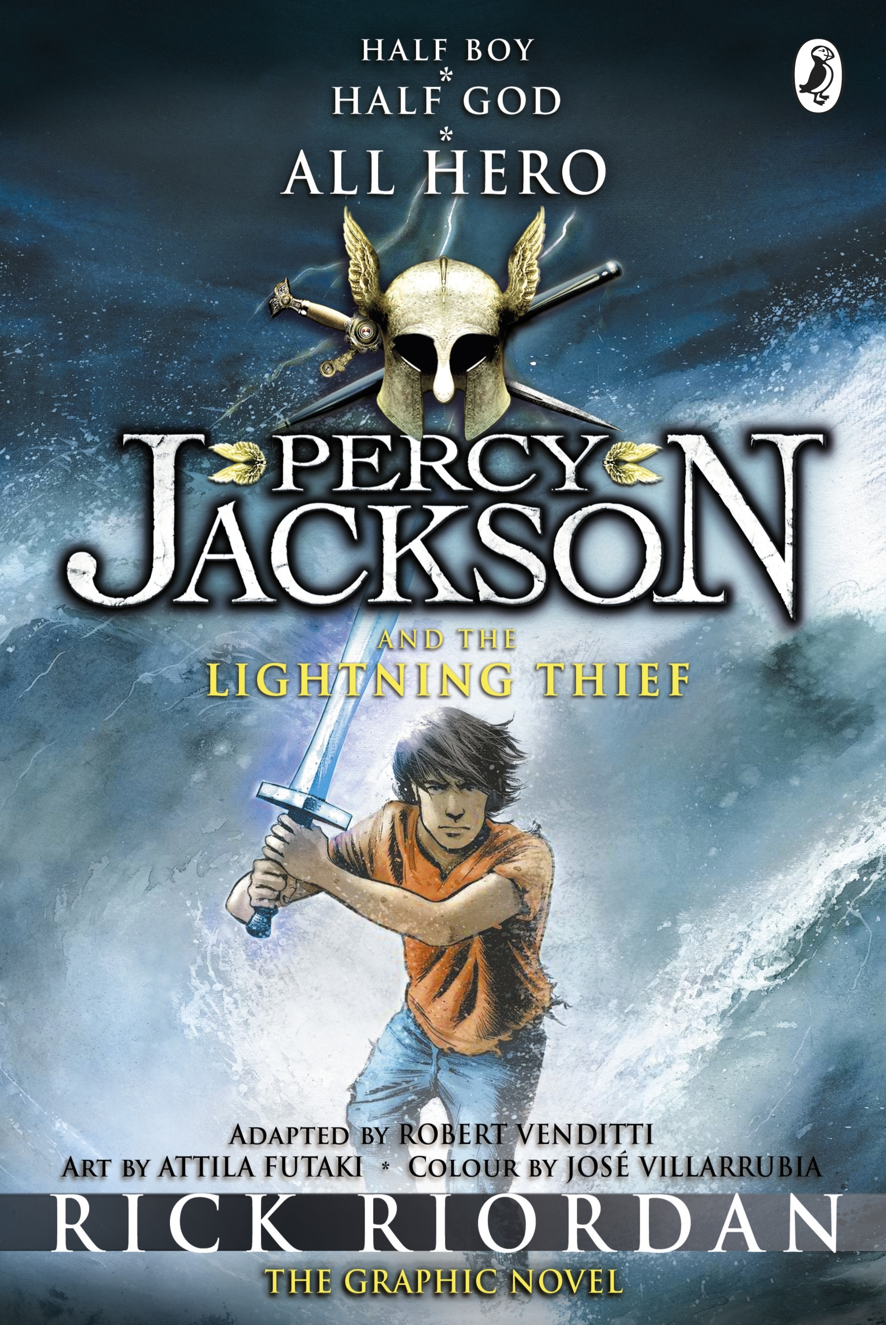 Graphic Novel Book Cover ~ Percy jackson and the lightning thief graphic novel
