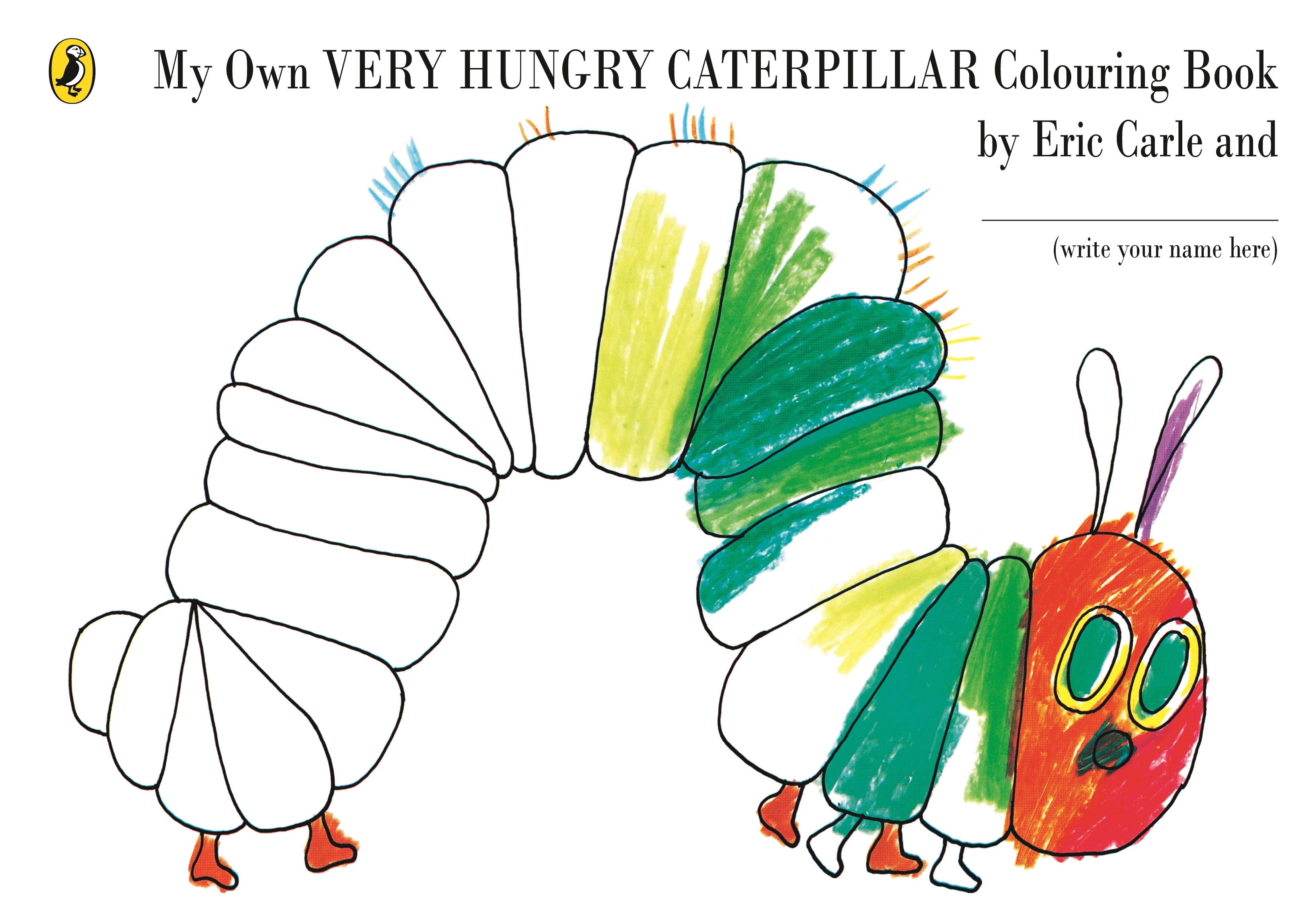 My Own Very Hungry Caterpillar Colouring Book Penguin