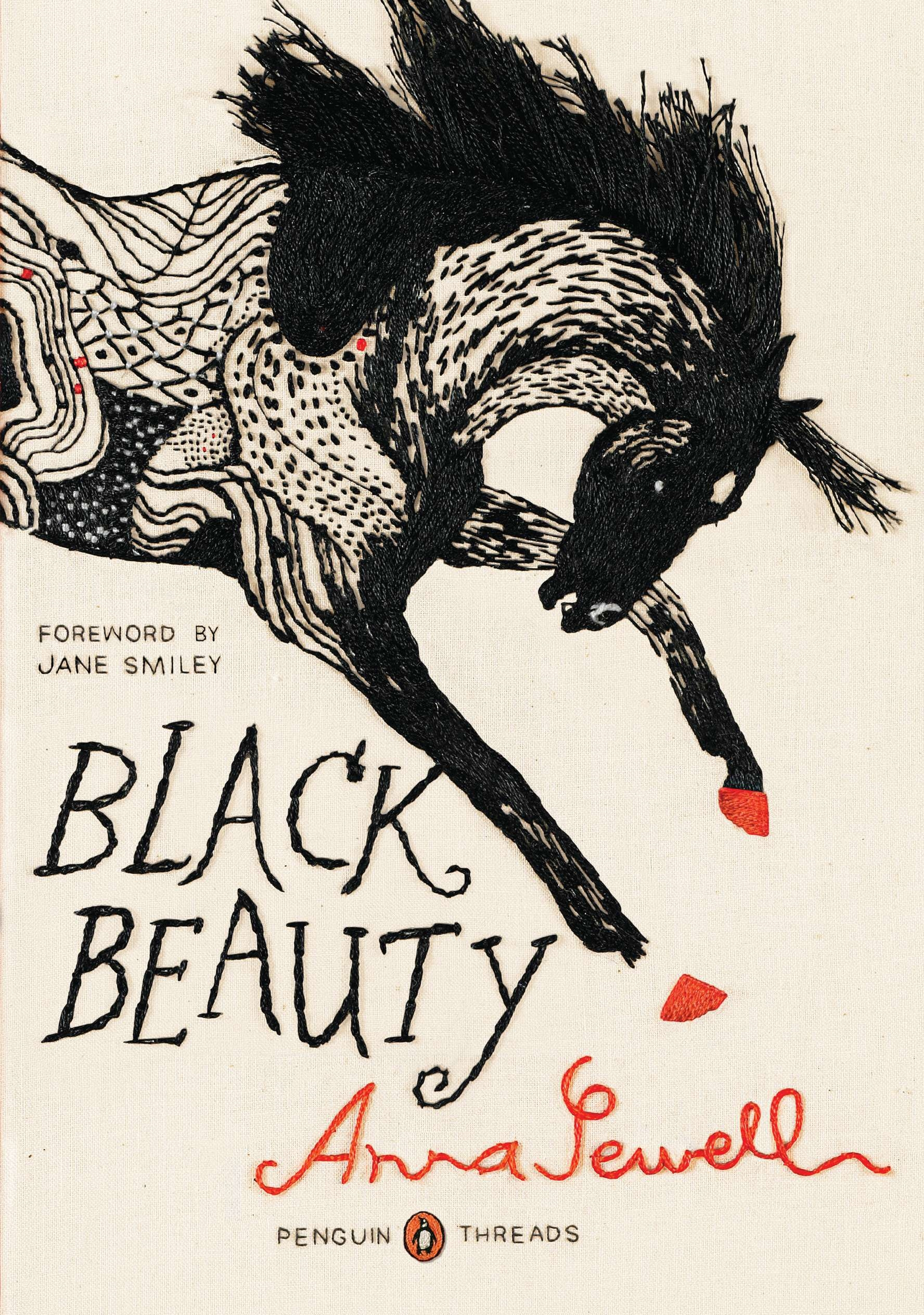 Book With Black Cover ~ Black beauty penguin threads classics deluxe