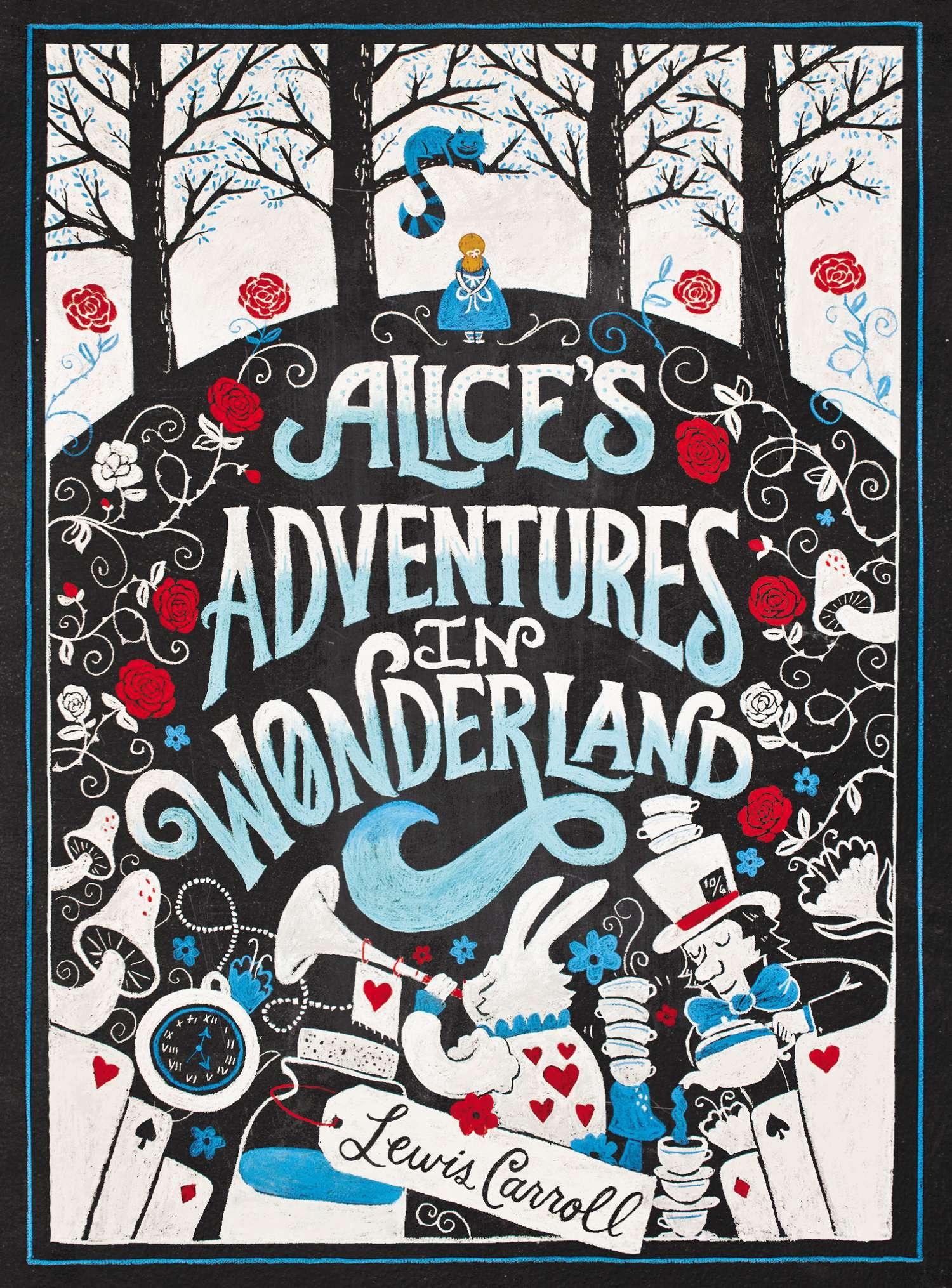 Creative Book Cover Uk ~ Alice s adventures in wonderland puffin chalk series