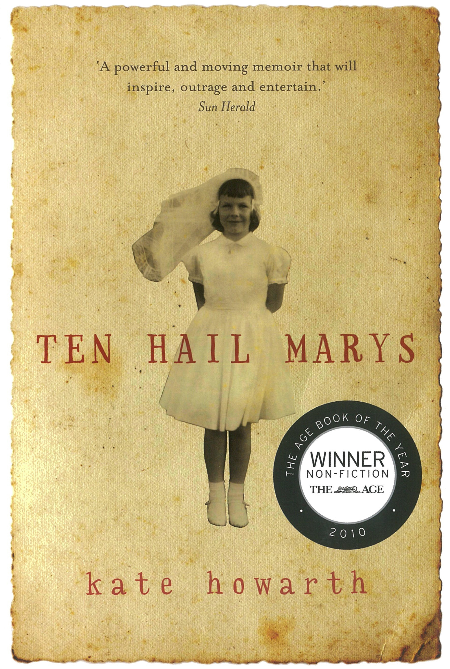 Book Cover:  Ten Hail Marys: a memoir