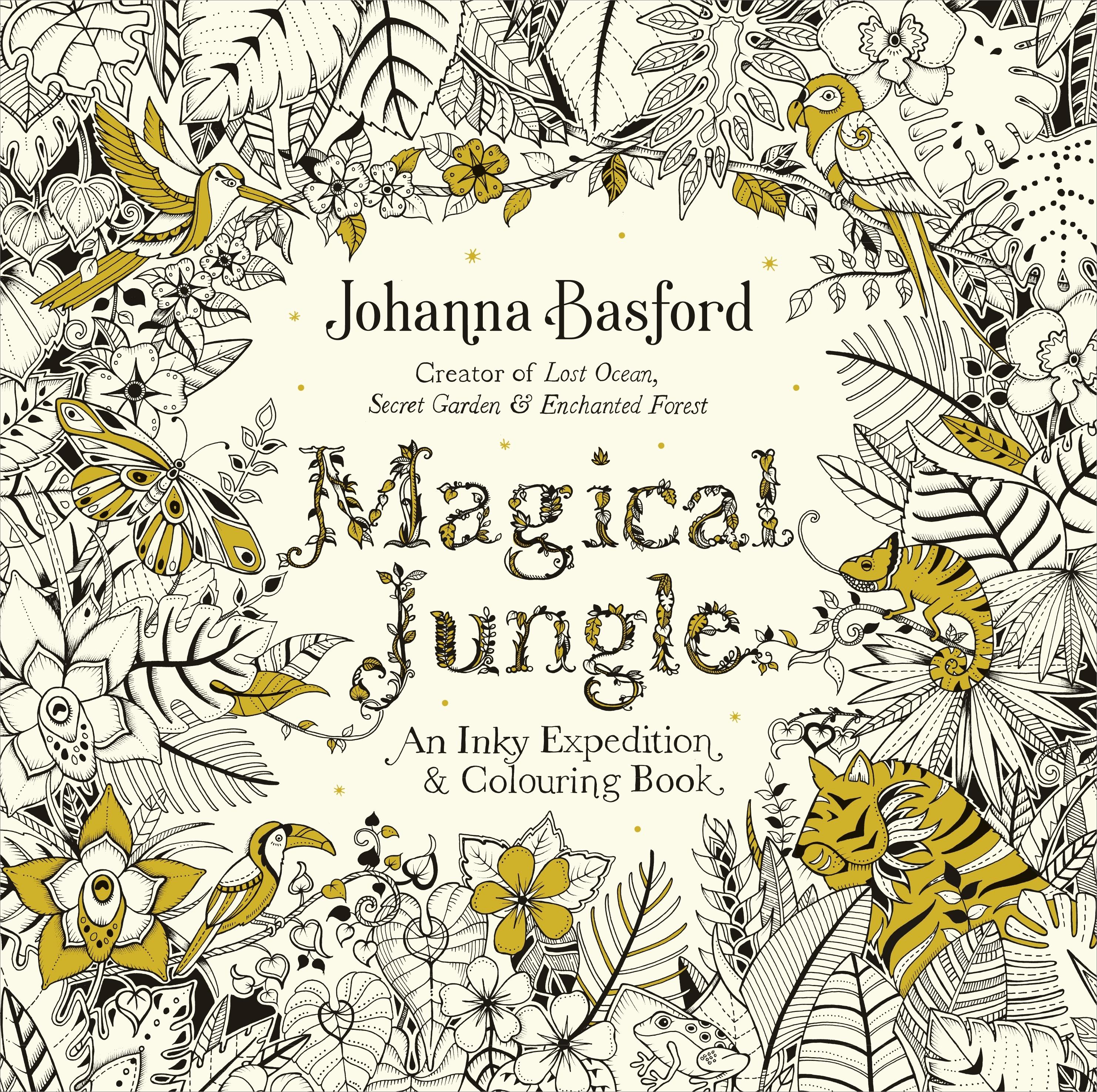 Secret garden colouring in book nz - Magical Jungle