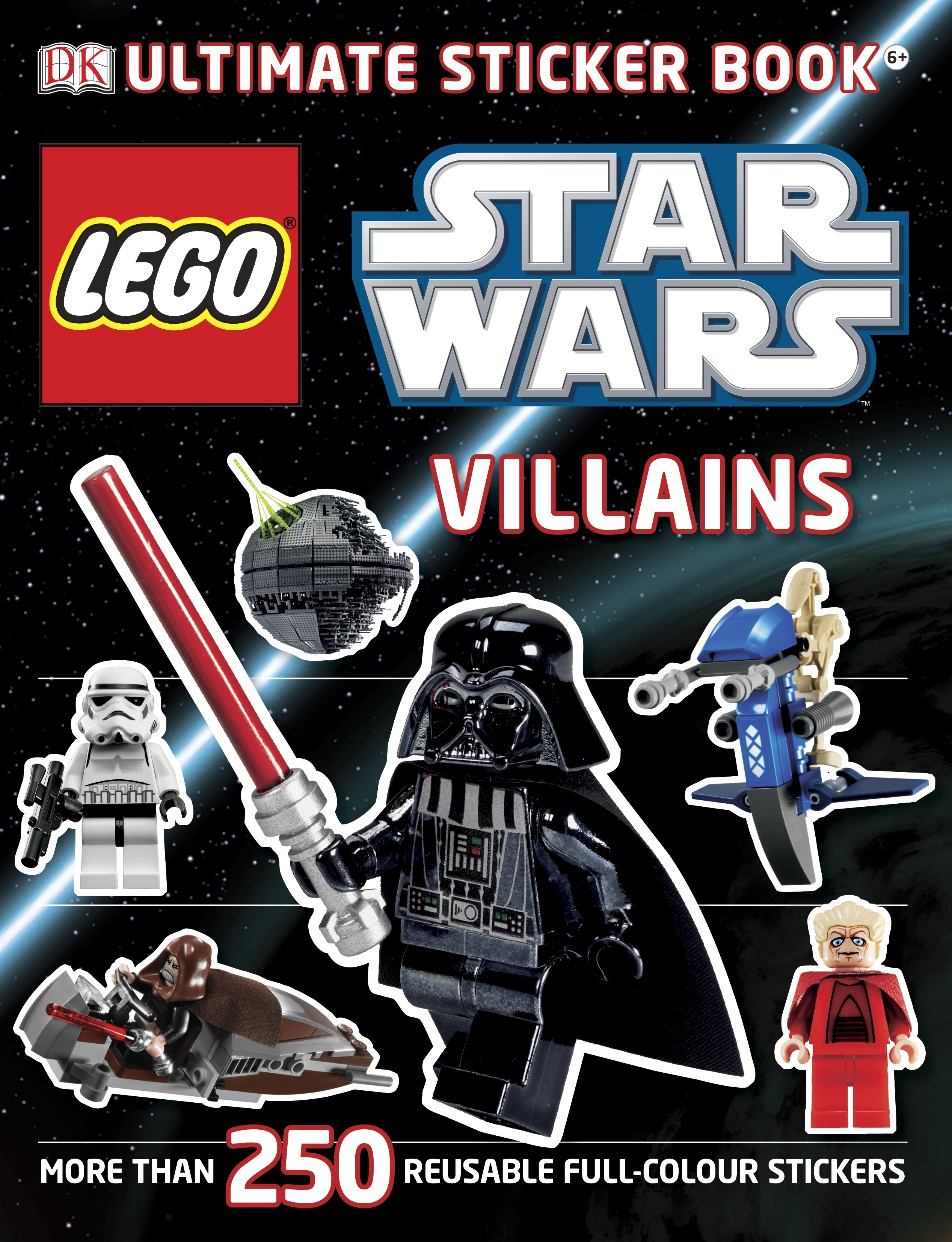 Book Cover:  Lego Star Wars Villains: Ultimate Sticker Book