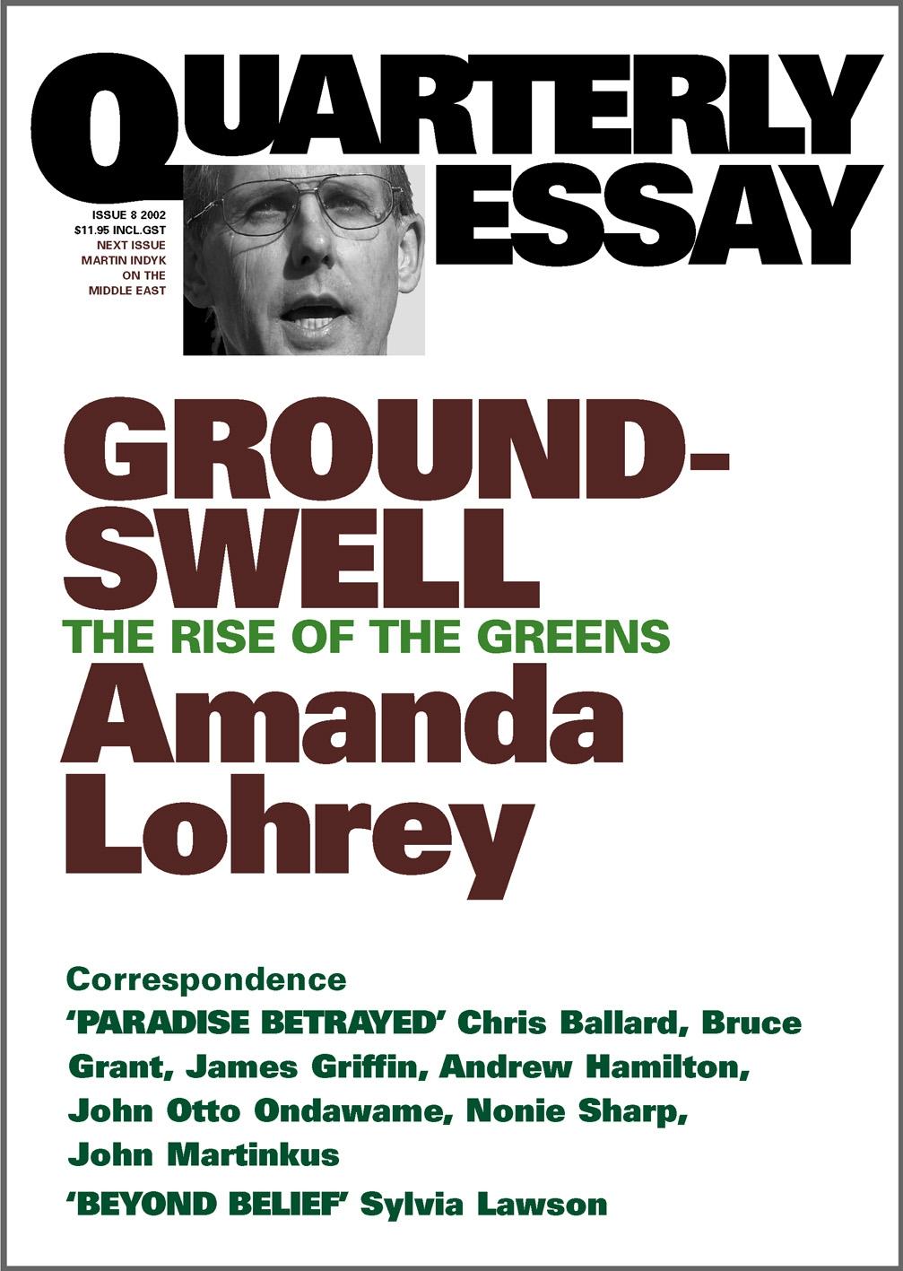The quarterly essay