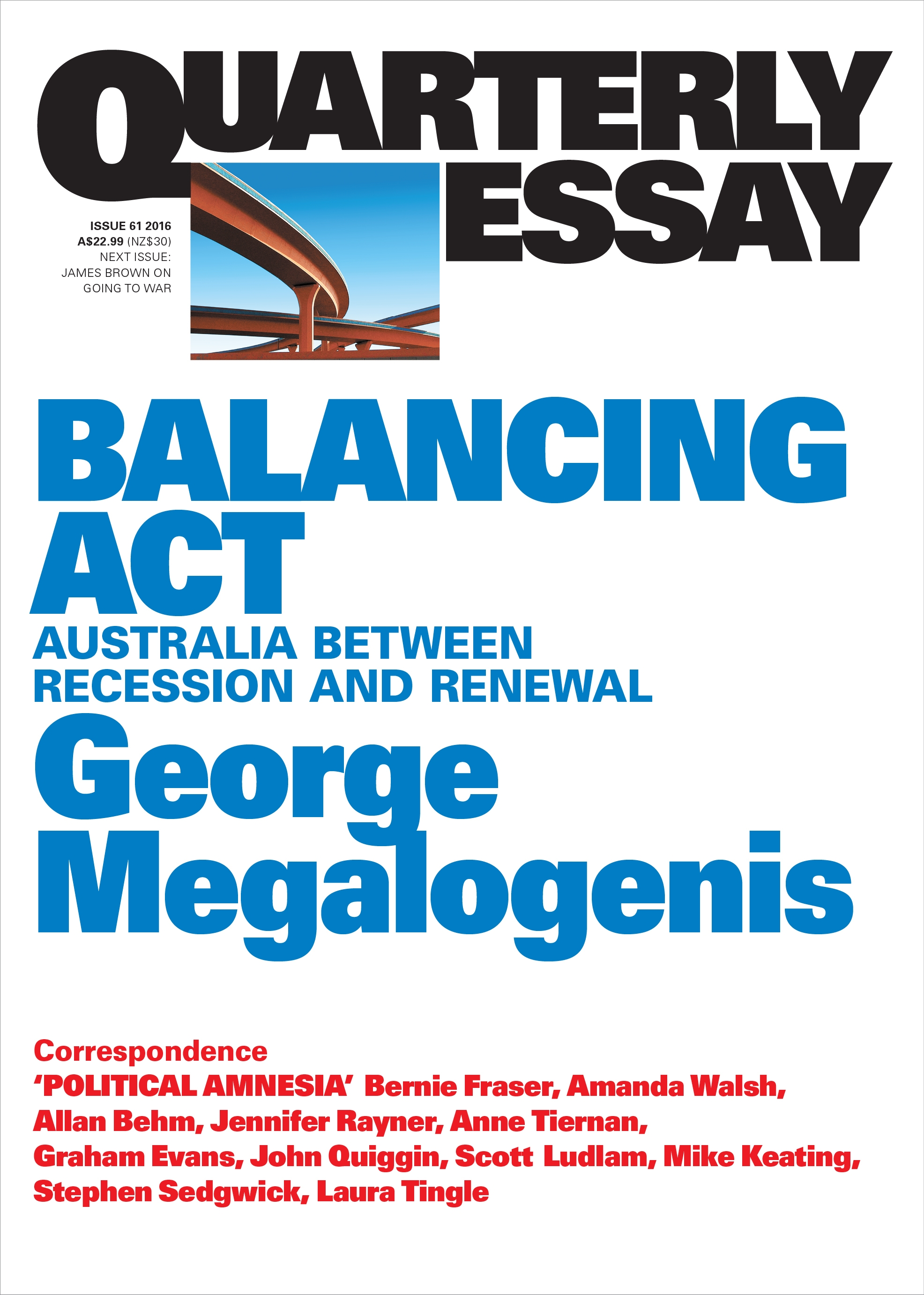 balancing act  australia between recession and renewal  quarterly    balancing act  australia between recession and renewal  quarterly essay
